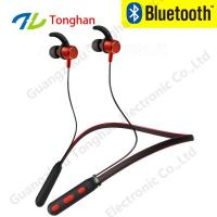Buy cheap Mental stereo V4.2 neckband bluetooth earphone magnetic blue tooth headphone wireless earphone anti- from wholesalers