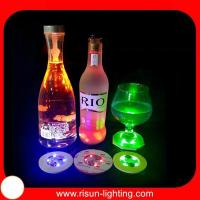 Buy cheap LED flashing coaster colorful round shape EVA flashing bottl from wholesalers