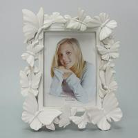 craft and craft Resin White butterfly Photo frame
