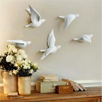 China craft and craft Resin 3D Flying Birds Wall Decor on sale
