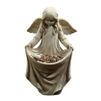 Buy cheap craft and craft Resin Angel Figure Statue Bird Feeder from wholesalers