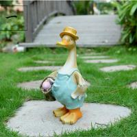Buy cheap craft and craft Resin Outdoor Cartoon Duck Statue from wholesalers