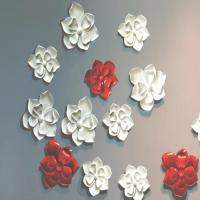 Buy cheap craft and craft Custom Interior Wall Design Resin Flower Wall Decor from wholesalers