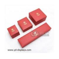 Buy cheap Chinese red high-end diamond jewelry box jewelry box thick edge than the market twice as thick from wholesalers