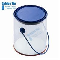 Buy cheap Round Tin Gift Box with Clear Window Tin Box with Handle from wholesalers