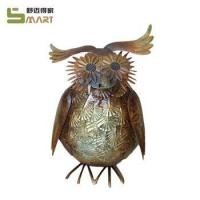 Buy cheap Iron Statue & Ornament Custom Indoor Decoration Animal Metal owl statues from wholesalers