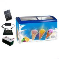 Buy cheap 12V/24V DC Solar Powered Chest Icecream Freezer with Double Glass door from wholesalers