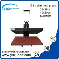 Buy cheap CE Approved Manual Semi-automatic Heat Sublimation Transfer Machine Plain Press from wholesalers