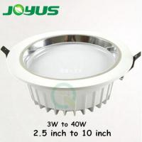 Buy cheap high power lumen 40w smd5630 LG LED downlight famous in Europe market from wholesalers