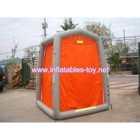 Outdoor emergency decon shower system for 1 man