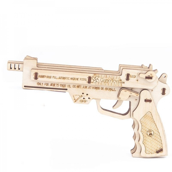 Buy cheap GK-Wood Full Auto Rubber Band Pistol 3D PUZZLE from wholesalers