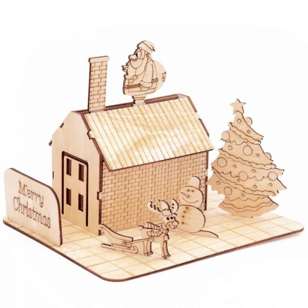 Quality GK-Wood Christmas House 3D Puzzle for sale