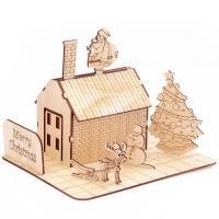 Buy cheap GK-Wood Christmas House 3D Puzzle from wholesalers