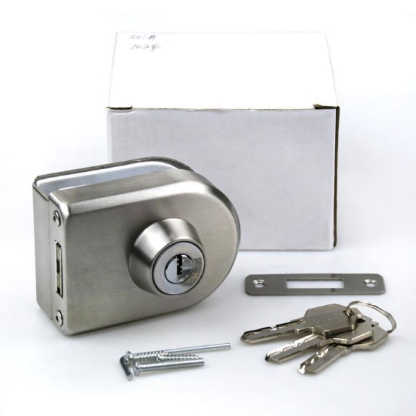 Buy cheap Stainless steel 304 iron key zinc head sanding D type Oval Glass Door Hook Locks from wholesalers
