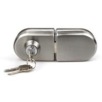 Buy cheap Double side High quality Stainless steel 201 office sliding 8-12mm glass door lock from wholesalers