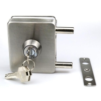 Buy cheap Wholesale Thickness door use 8-12mm Frameless Hardware sliding tempered glass door lock product