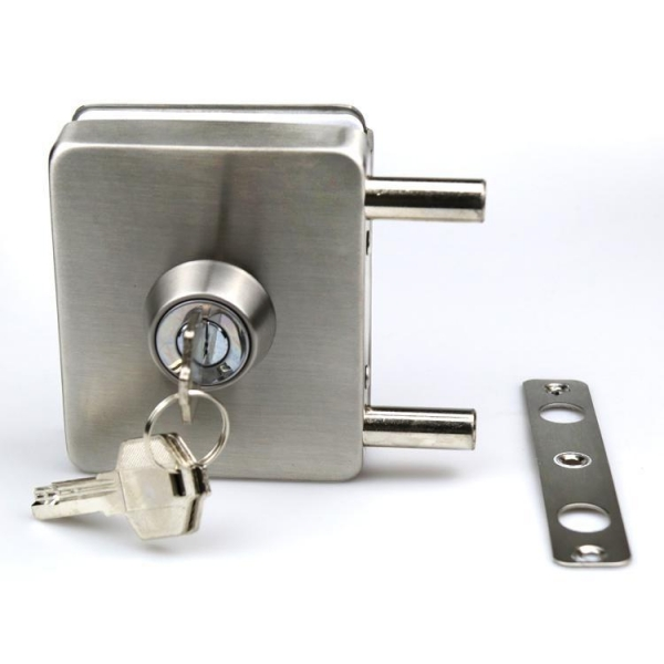 Quality Wholesale Thickness door use 8-12mm Frameless Hardware sliding tempered glass door lock for sale