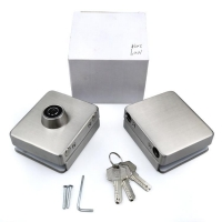 Buy cheap Sliding commercial Office shop ues two side stainless steel glass doors hardware lock from wholesalers