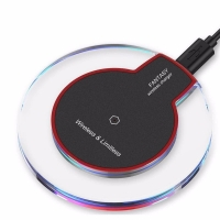Buy cheap Round led transparent charger pad adapter wireless charger for phone receiver_HL4077 from wholesalers