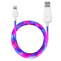 Buy cheap Cables Light Visible Flowing LED Powerline Double Lightning USB Cable Sync Data Cord for iPhone from wholesalers