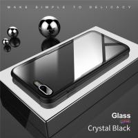 Buy cheap new products tempered glass case for iphone mobile phone hybird hard glass tpu case from wholesalers