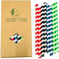 Buy cheap 10mm Wide Jumbo Large Paper Straws Drinking Smoothie Straws from wholesalers
