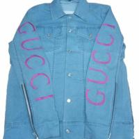 Buy cheap Gucci inspired denim jacket for men from wholesalers