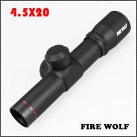 Buy cheap 330009 New FRIE WOLF None-Illumination 4.5X20 Mil-Dot one-piece Scope With Flip-up Cover from wholesalers
