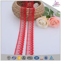 Buy cheap 2018 Spanish red garment lace trim from wholesalers