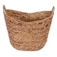 Buy cheap Water Hyacinth Wicker Basket with Handles, Natural, Brown, Natural color. from wholesalers