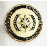 Buy cheap Brass Gold Customize Challenge Coins Souvenirs With Diamond Cut Edge from wholesalers