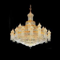 Buy cheap 153 lights Large Gold crystal Chandeliers Lighting for Hotel Dome from wholesalers