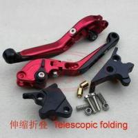China CNC adjustable aluminum brake and clutch levers with folding handle Motorcycle lever on sale
