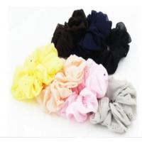 Buy cheap hot sale new style round spot hair band scrunch hair accessory simple cloth headgear from wholesalers