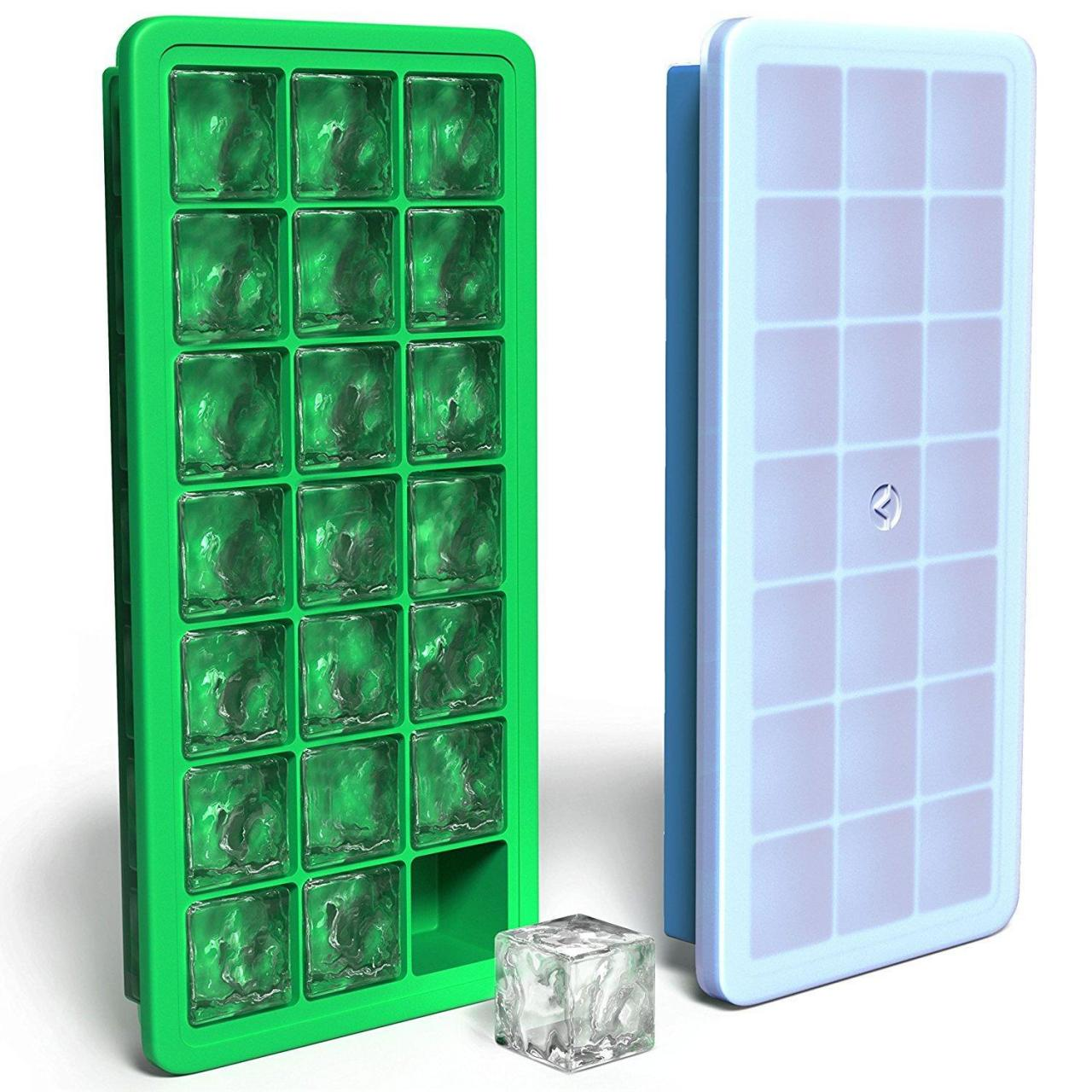 Buy cheap Hot Sell BPA Free FDA 21 Cavity Silicone Ice Cube Tray Maker Tray with Lid from wholesalers
