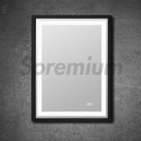 Buy cheap S-3100B Wooden Framed Demister Bathroom Mirror With LED Light And Touch Switch System from wholesalers