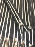 Buy cheap Black + Grey Striped 22 Inch Reflective Nylon Coil #5 Open, Separating Jacket Zipper from wholesalers