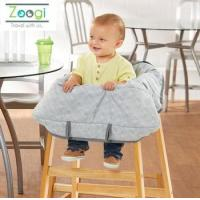 China Comfortable easy to carry strap fasten baby and keep safe shopping cart cover for baby on sale