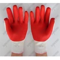 Buy cheap Mechanical industrial natural rubber coated safety work gloves from wholesalers