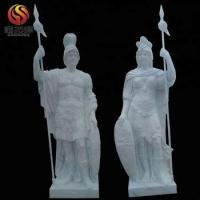 Buy cheap Ancient Rome Soldiers White Marble Sculpture from wholesalers