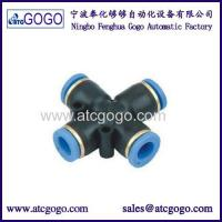 Buy cheap Snap Connector Nipple 4-way Cross Pipe Fitting One Touch Quick Connectors Push Fit Fittings from wholesalers