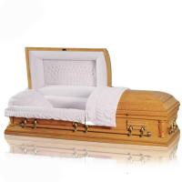 Buy cheap Casket JS-A057 Chinese supplier hot sale solid wooden casket from wholesalers
