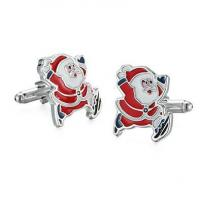 Buy cheap Personalized Stainless Steel Custom Christmas Cufflinks from wholesalers
