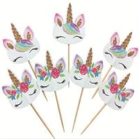 Buy cheap Cute unicorn cupcake toppers from wholesalers