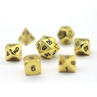 Buy cheap Polyhedral Dice Gold Metal Dice Set from wholesalers