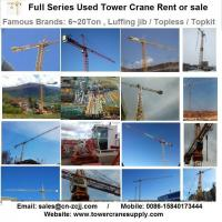 Buy cheap Tower Crane Rent E1515 Tower Crane Lease Rent Hire from wholesalers