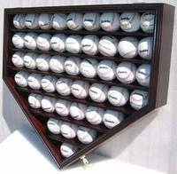 Buy cheap 46 Baseball Display Case Wall Cabinet Holder Shadow Box, UV protection (Mahogany Finish) from wholesalers