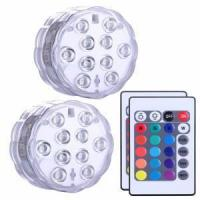 Buy cheap Submersible led lights RGB color battery power remote control vase lights from wholesalers