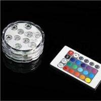 Buy cheap 10leds remote control led submersible light from wholesalers