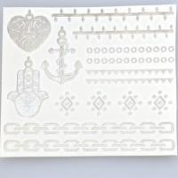 Buy cheap Custom jewelry gold foil tattoo sticker sexy flash gold temporary tattoo from wholesalers